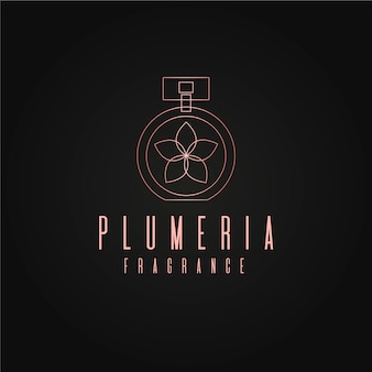 Luxury floral perfume logo design