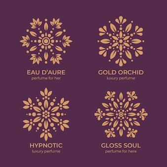 Luxury floral perfume logo
