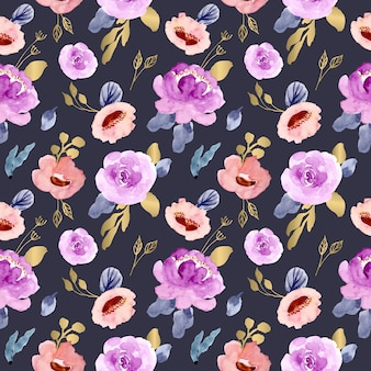 Luxury floral watercolor seamless pattern