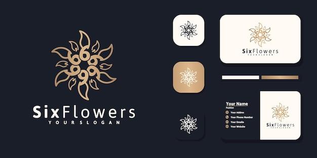 Роскошный цветочный дизайн логотипа красоты, вдохновение для салона спа по уходу за кожей и другой косметики