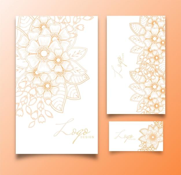 Концепция шаблонов приглашения luxury flower card