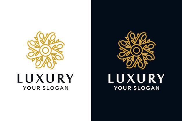 Luxury flower logo design collection Premium Vector