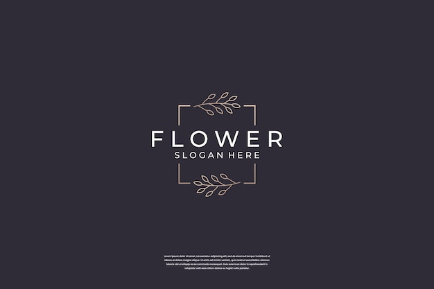 Luxury flower logo design inspiration
