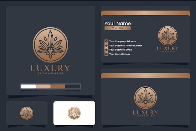 Роскошный цветок, вдохновение для дизайна логотипа