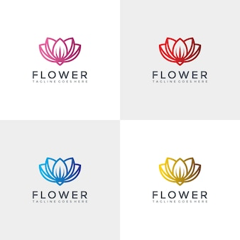 Шаблон дизайна роскошного цветочного логотипа.