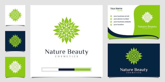 ラインアートスタイルの豪華な花のロゴデザイン。ロゴは、スパ、美容院、装飾、ブティックに使用できます。と名刺