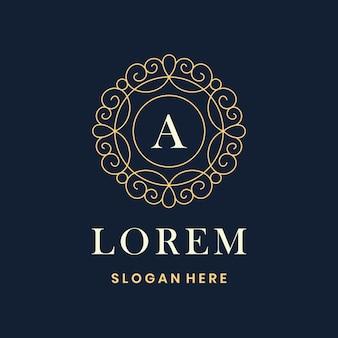 Luxury frame logo