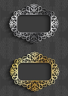 Luxury frame for wedding invitation and other