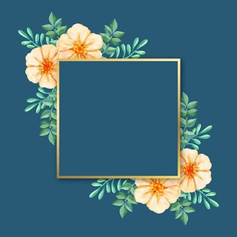 Luxury frame with winter flowers