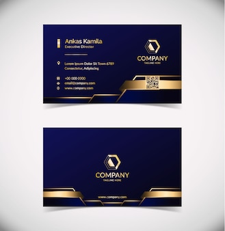 Luxury geometric business card template
