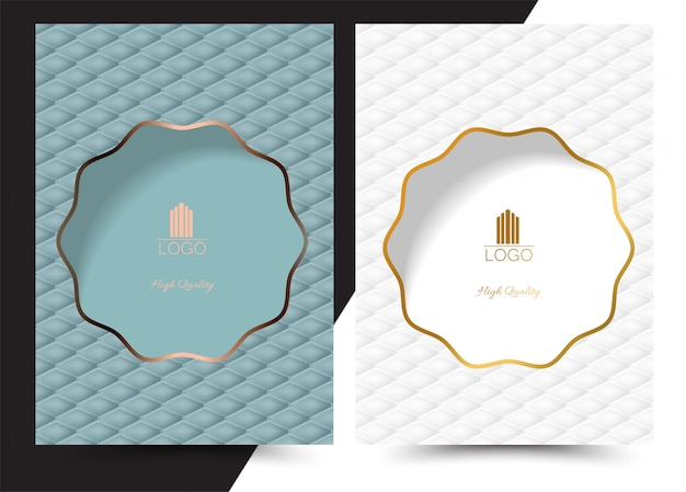Luxury geometric cover  menu