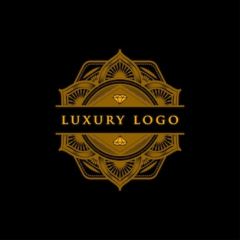 Luxury geometric diamond mandala logo
