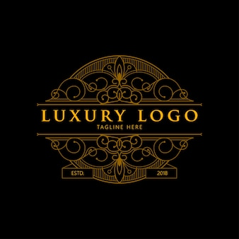 Luxury geometric monoline logo