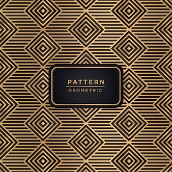 Luxury geometric pattern background in gold color
