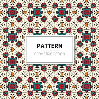 럭셔리 기하학적 패턴 디자인 무료 벡터