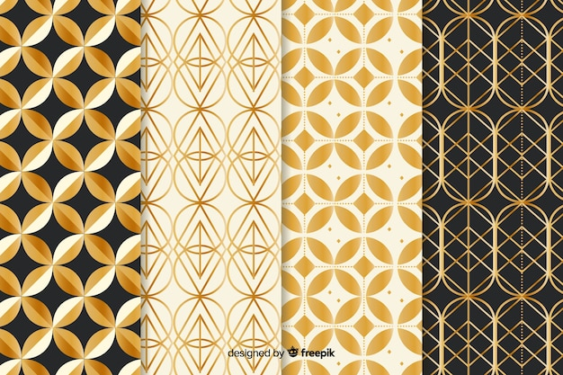 Luxury geometric pattern pack