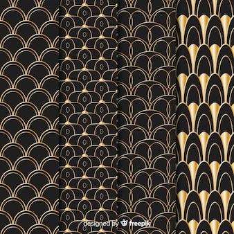 Luxury geometric pattern pack