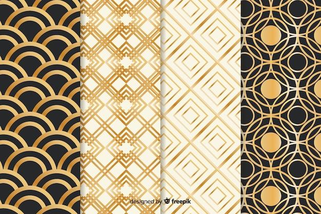 Luxury geometric pattern set