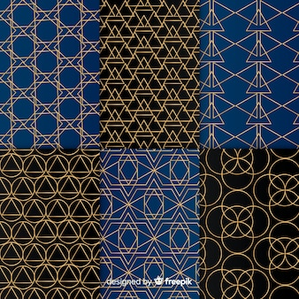 Luxury geometric pattern set