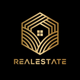 Luxury geometric real estate logo