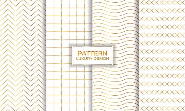 豪華な幾何学的なシームレスパターンセット、装飾的な壁紙。