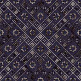 Luxury geometric shape batik fabric background wallpaper in navy and gold color
