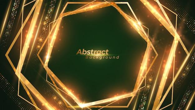 Luxury geometric shining background