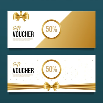 Luxury gift voucher design template.