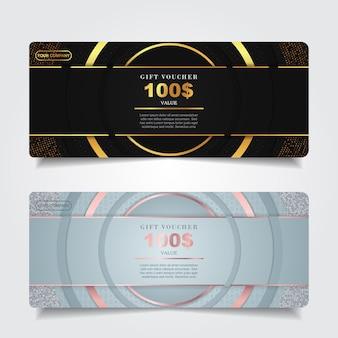 Роскошный подарочный сертификат с украшением золотым элементом