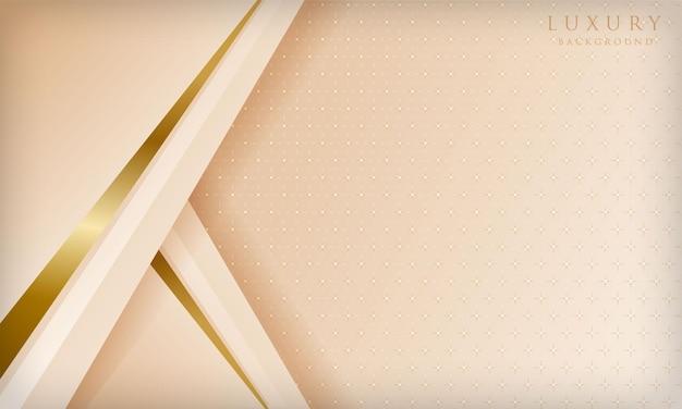 きらめく光の要素と豪華なキラキラゴールドラインの背景エレガントなカバーデザインテンプレート