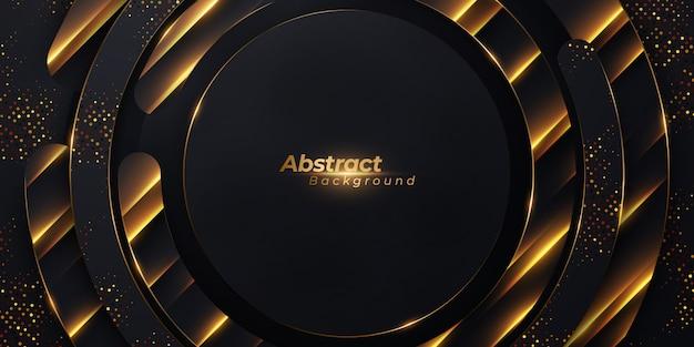 Luxury glowing circle shape background.