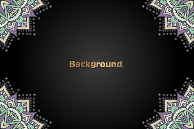 Роскошный золотой фон черная мандала