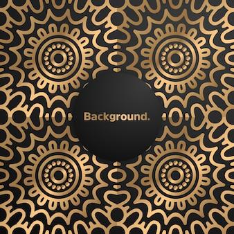 Luxury gold background colorful mandala