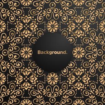 豪華なゴールドの背景カラフルな曼荼羅