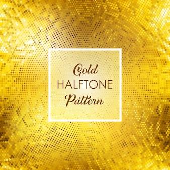 Pattern di sfondo con disegno oro mezzitoni