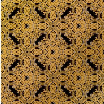 Luxury gold batik pattern background