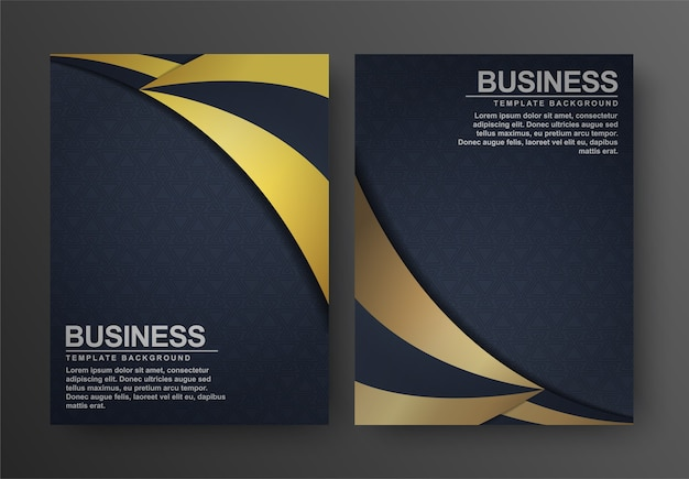 Luxury gold and black wave abstract cover
