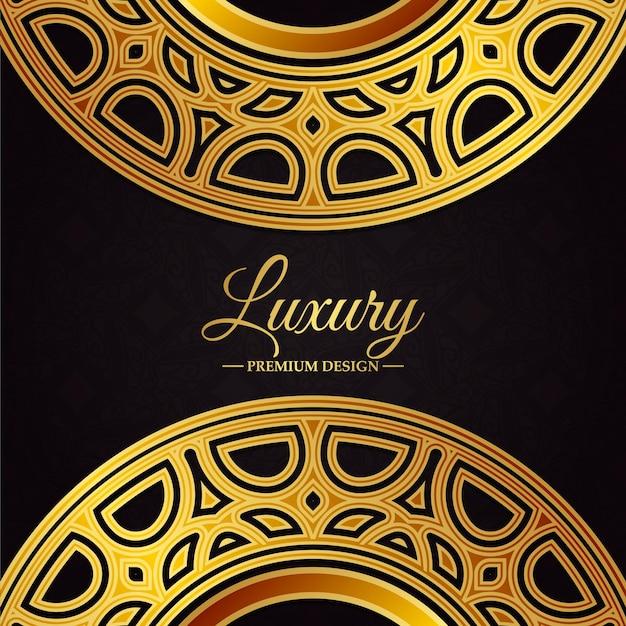 Luxury gold border pattern background