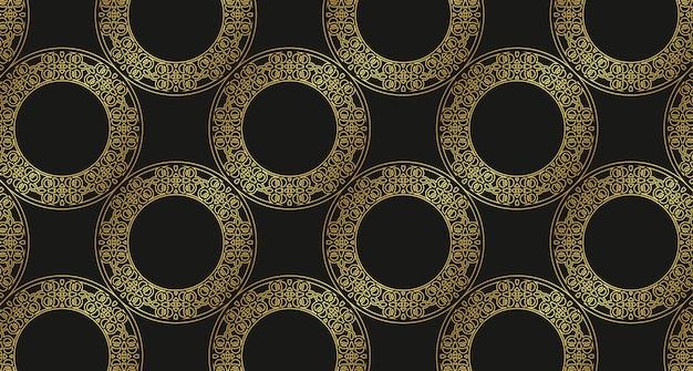 럭셔리 골드 테두리 패턴 배경