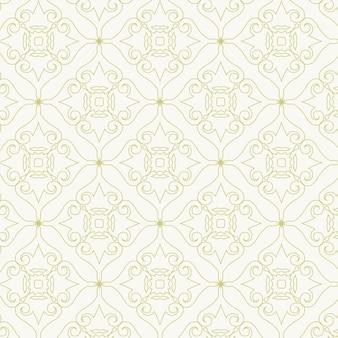 럭셔리 골드 명함 및 빈티지 장식 로고 벡터 템플릿. 레트로 우아한 flourishes 패턴 배경으로 장식 프레임 디자인