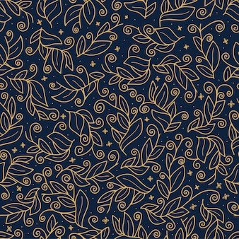 Luxury gold cute vector leaf seamless vector pattern. abstract print with leaves