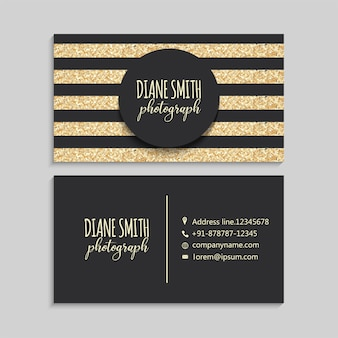 Luxury gold and dark business card