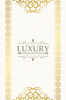 Luxury gold decorative floral frame background
