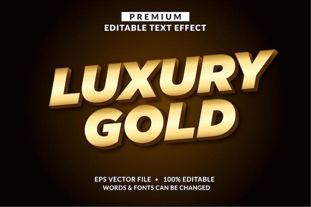 Роскошный золотой, редактируемый стиль шрифта с текстовым эффектом