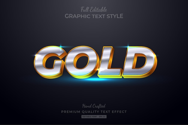 Luxury gold editable text style effect
