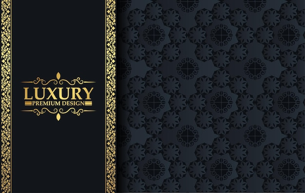 Luxury gold floral background with decorative frame