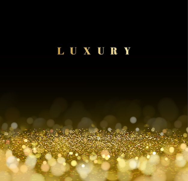 Luxury gold glitter defocused bokeh background