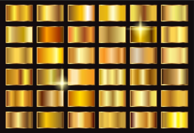 Luxury gold gradients