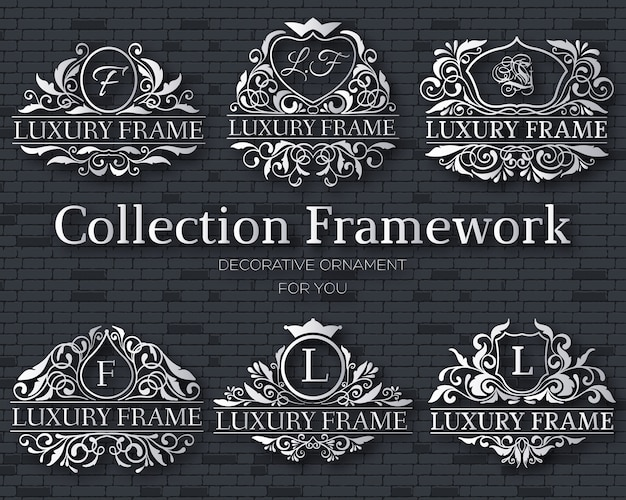 Luxury gold label collection  set concept