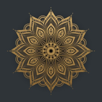Luxury gold mandala art lace